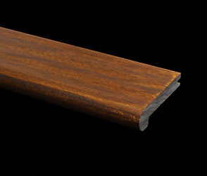 Prefinished Golden Teak Plank Stair Nose